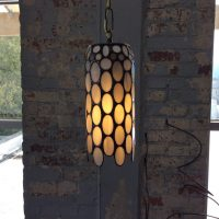 "gray pendant lamp 5""x11"""
