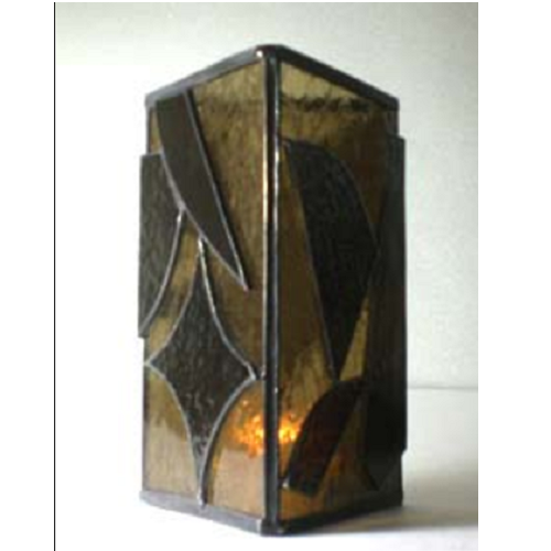 stained glass candle shield