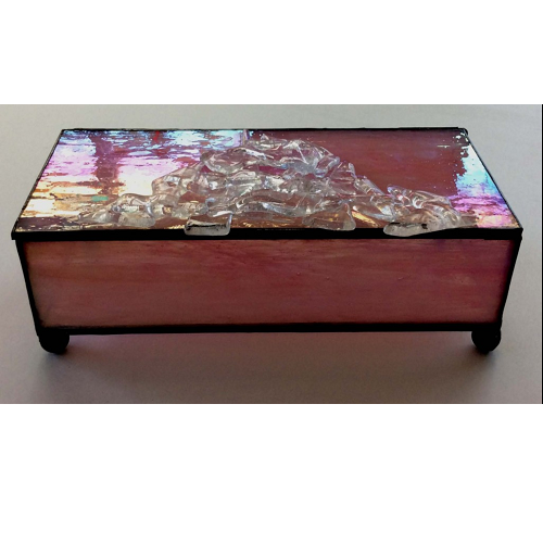 stained glass pink box
