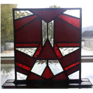 stained glass red stand
