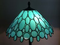 teal lamp shade