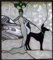 """Inspired by """"Erte"""" this window is 31"""" x 35"""""""