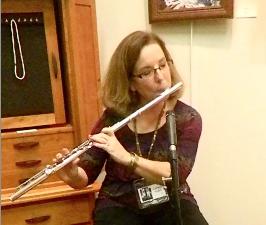 Carolyn playing flute