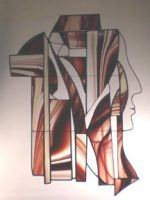 stained glass abstract woman