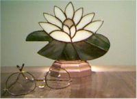 stained glass water lily