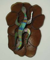 stained glass lizard