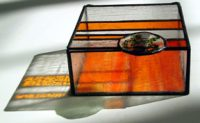 orange stained glass box