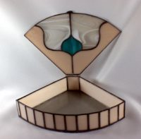"stained-glass-box 12"" x 8"" x 2.5"""