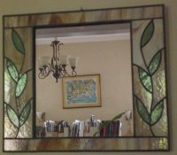 "stained glass mirror 16"" x 14"""