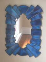 "stained glass mirror 16"" c 23"""