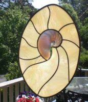 stained glass shell