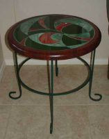 mosaic stained glass table 20""
