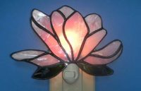 "Stained Glass Night Light 6"" x 5"""