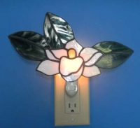 "Stained Glass Night Light 10"" x 7"""