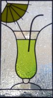 "stained glass panel 8.35"" x 6.5"""