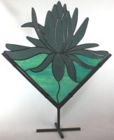 "stained glass lotus 18"" x 20"""