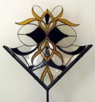 "stained glass stand 17"" x 18.5"""