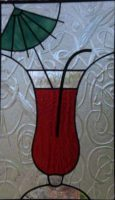 "stained glass panel 9"" x 15.5"""