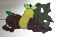 "stained glass fruit 14"" x 8"""