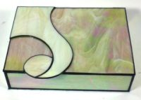"Stained Glass Box 11"" x 9"" x 3"""