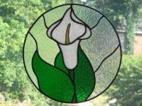 "circle cala lily 11"" diameter"