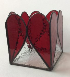 large Valentine candle holders