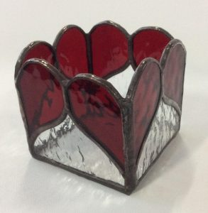 small Valentine candle holders