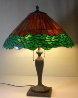 stained glass lamp with antique base