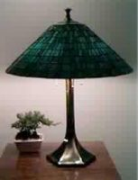 "stained glass Lamp 19"" diameter"