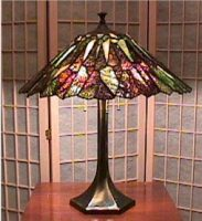 "stained glass lamp 18"" diameter"