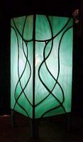 "stained glass lamp 12"" x 5"""