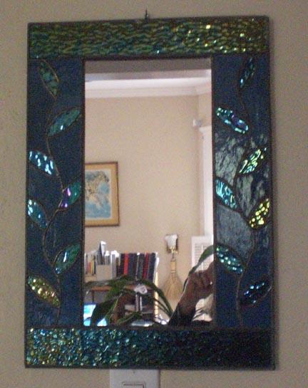 Stained Gl 0193m Vine Mirror