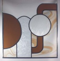 stained glass abstract panel
