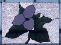 stained glass trillium
