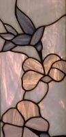 stained glass panel hummingbird