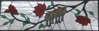 stained glass window birds