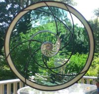 stained glass nautilus shell