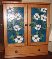 stained glass dogwood panels