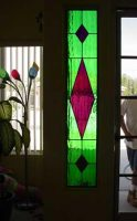 stained glass side light