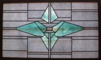 "stained glass window 37"" x 23"""