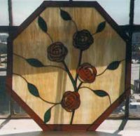 stained glass window rose