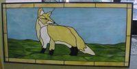 stained glass fox window