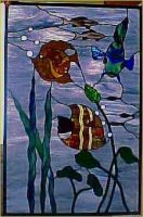 stained glass window fish