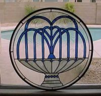 stained glass fountain window