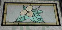 stained glass window trillium