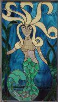 stained glass window mermaid