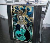 Stained Glass Mermaid Window