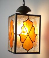 "stained glass lantern 8.25"" x 12.25"" x 8.25"""