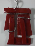 "fused glass jewelry 1 1/2"" x 2"""
