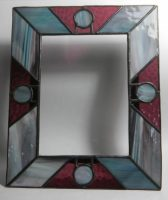 "stained glass frame 8"" x 10"""